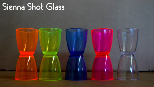 Sienna Plastic Shot Glasses