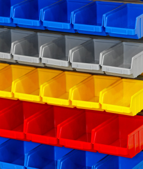 Plastic Rack Bins